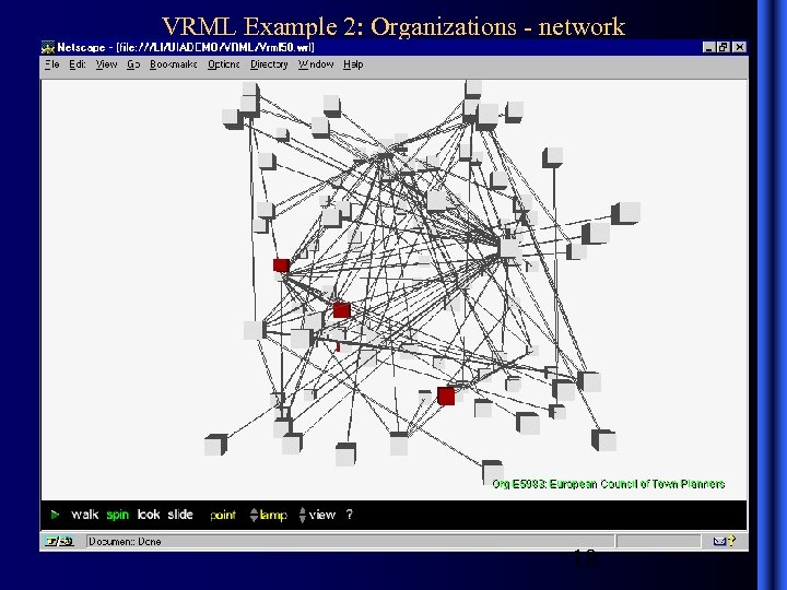 VRML Example 2: Organizations - network 18