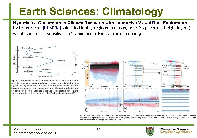 Earth Sciences: Climatology Hypothesis Generation in Climate Research with Interactive Visual Data Exploration by