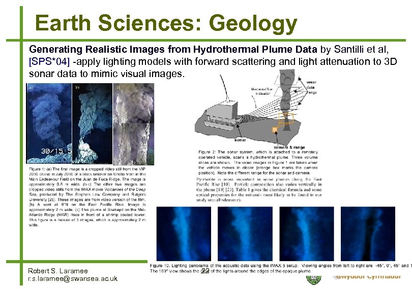 Earth Sciences: Geology Generating Realistic Images from Hydrothermal Plume Data by Santilli et al,
