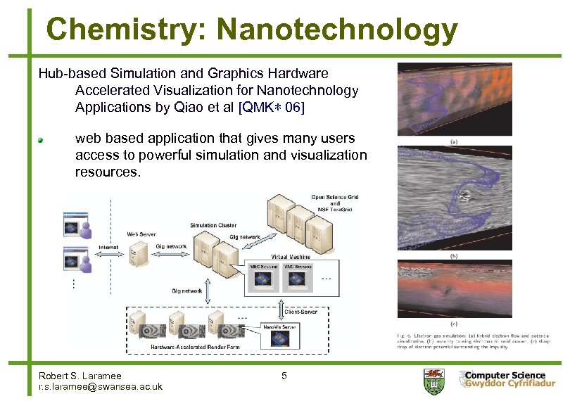 Chemistry: Nanotechnology Hub-based Simulation and Graphics Hardware Accelerated Visualization for Nanotechnology Applications by Qiao