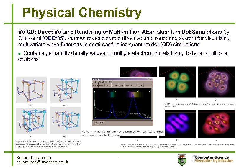 Physical Chemistry Vol. QD: Direct Volume Rendering of Multi-million Atom Quantum Dot Simulations by