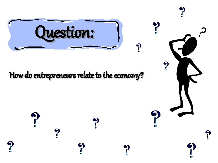 Question: How do entrepreneurs relate to the economy?