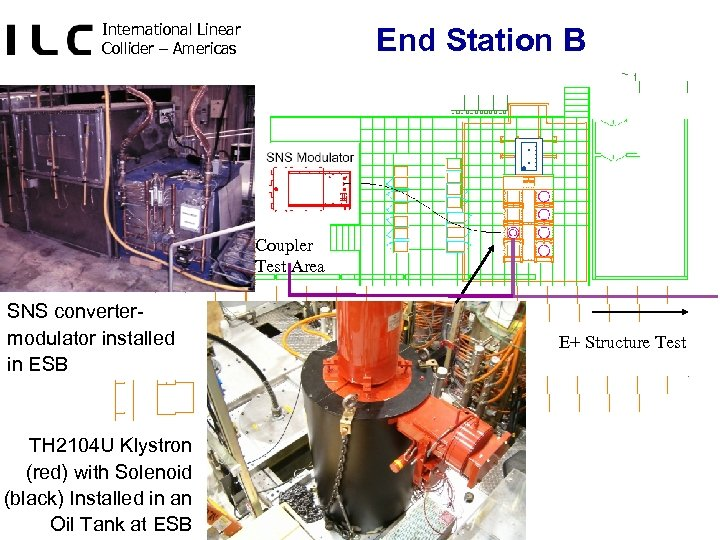 International Linear Collider – Americas End Station B Coupler Test Area SNS convertermodulator installed