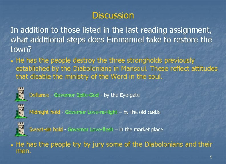 Discussion In addition to those listed in the last reading assignment, what additional steps
