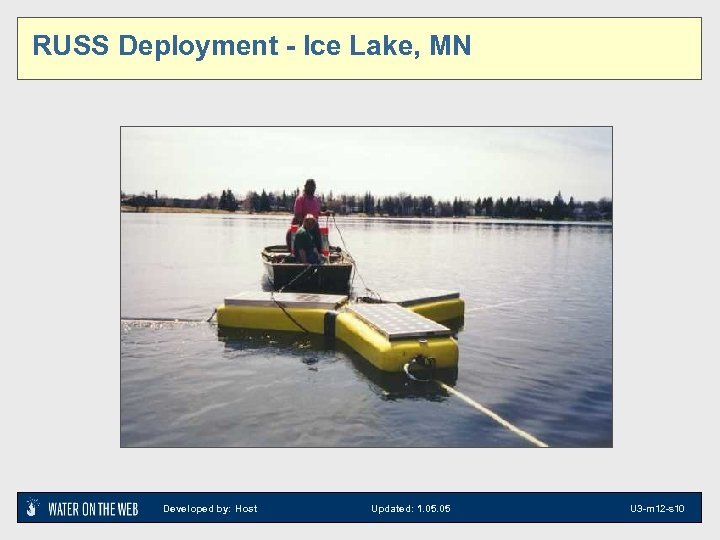 RUSS Deployment - Ice Lake, MN Developed by: Host Updated: 1. 05 U 3
