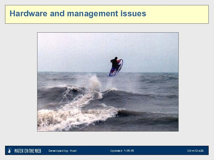 Hardware and management issues Developed by: Host Updated: 1. 05 U 3 -m 12