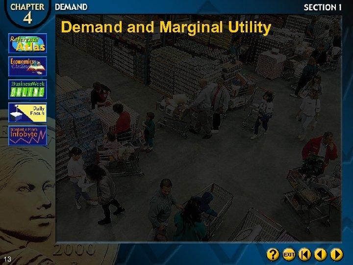 Demand Marginal Utility 13
