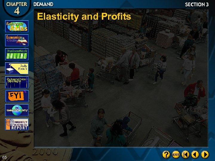 Elasticity and Profits 65