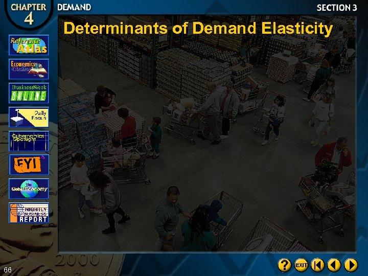 Determinants of Demand Elasticity 66