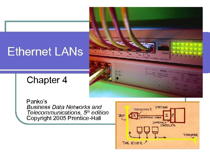 Ethernet LANs Chapter 4 Panko's Business Data Networks and Telecommunications, 5 th edition Copyright
