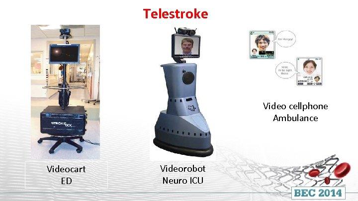 Telestroke Video cellphone Ambulance Videocart ED Videorobot Neuro ICU