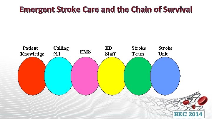 Emergent Stroke Care and the Chain of Survival Patient Knowledge Calling 911 EMS ED