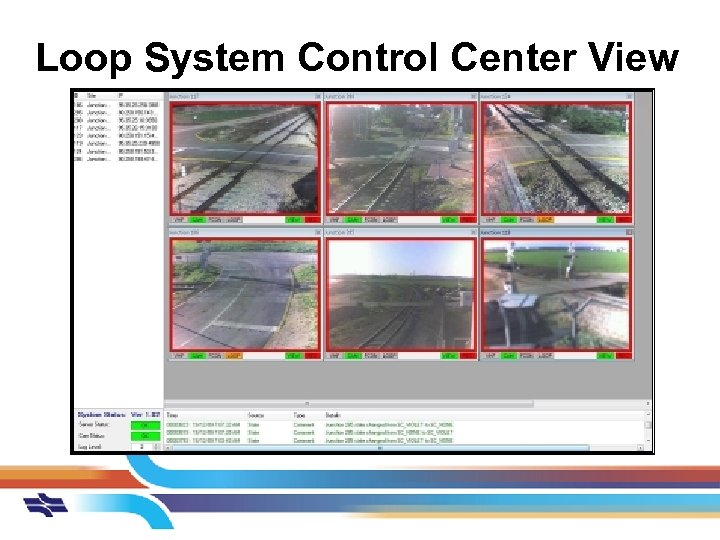Loop System Control Center View