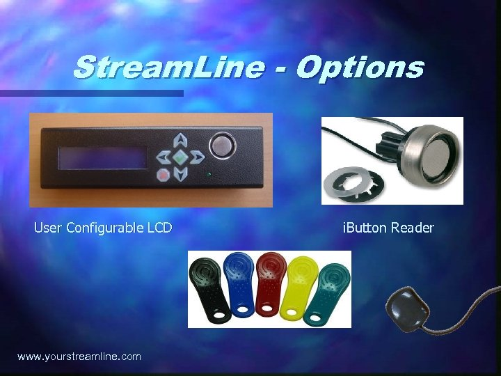 Stream. Line - Options User Configurable LCD www. yourstreamline. com i. Button Reader