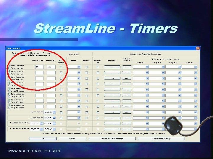 Stream. Line - Timers www. yourstreamline. com