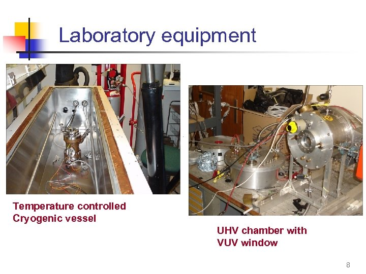 Laboratory equipment Temperature controlled Cryogenic vessel UHV chamber with VUV window 8