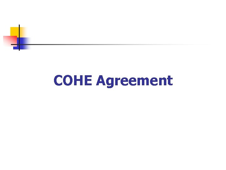 COHE Agreement