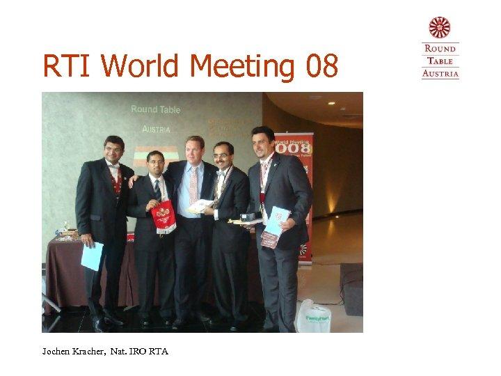 RTI World Meeting 08 Jochen Kracher, Nat. IRO RTA