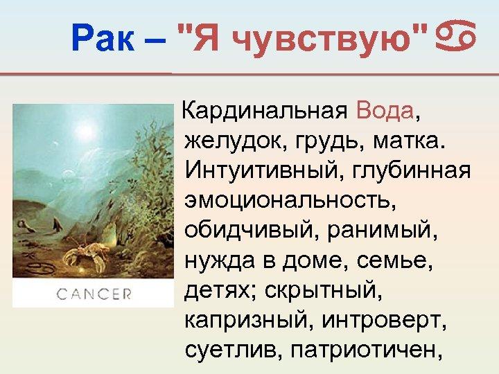 Рак –