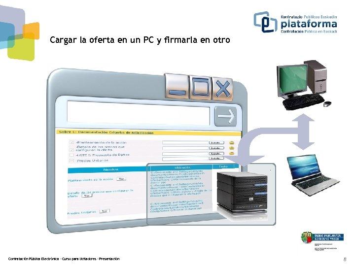 Cargar la oferta en un PC y firmarla en otro Contratación Pública Electrónica -