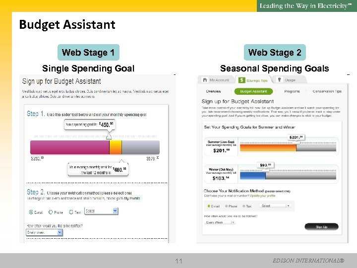 SM Budget Assistant Web Stage 1 Web Stage 2 Single Spending Goal Seasonal Spending