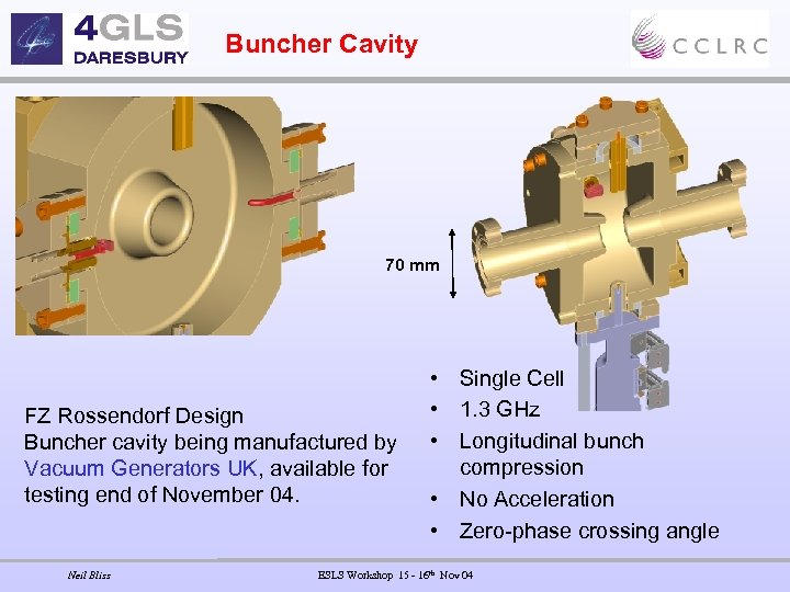 Buncher Cavity 70 mm FZ Rossendorf Design Buncher cavity being manufactured by Vacuum Generators