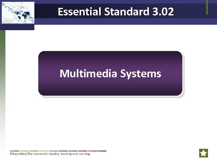 Essential Standard 3. 02 Multimedia Systems