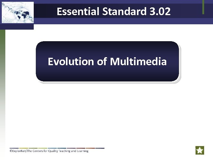 Essential Standard 3. 02 Evolution of Multimedia