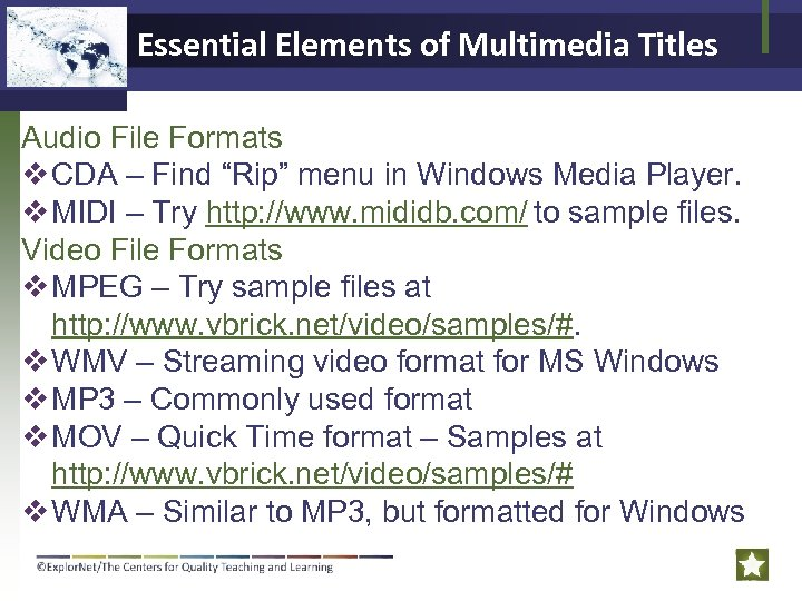 "Essential Elements of Multimedia Titles Audio File Formats v CDA – Find ""Rip"" menu"