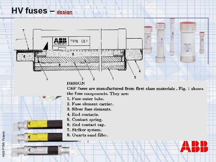 ABB PTMV Poland HV fuses – design