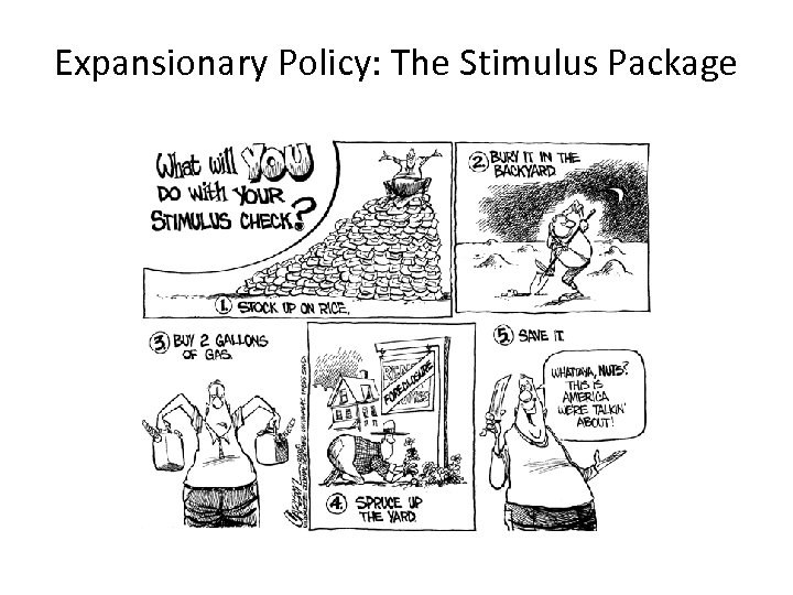 Expansionary Policy: The Stimulus Package