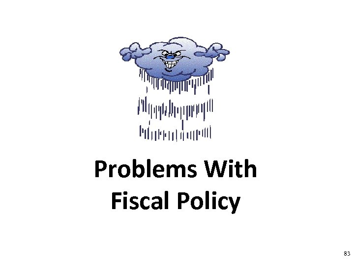 Problems With Fiscal Policy 83