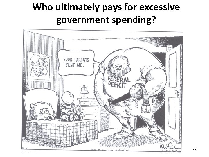 Who ultimately pays for excessive government spending? 85