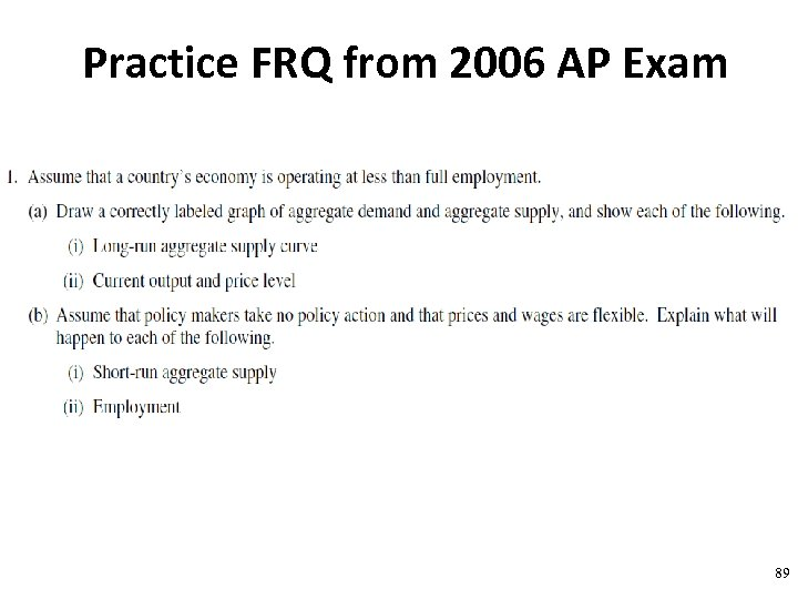 Practice FRQ from 2006 AP Exam 89