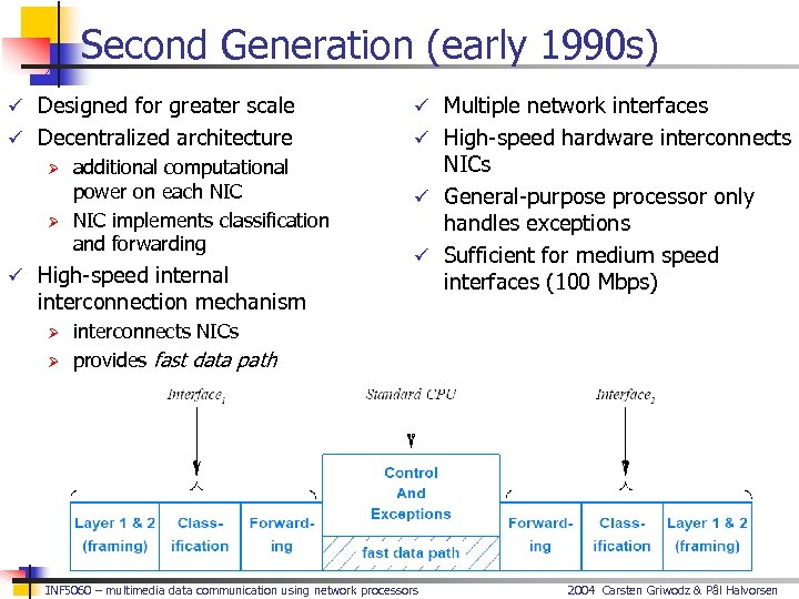 Second Generation (early 1990 s) ü Designed for greater scale ü Multiple network interfaces