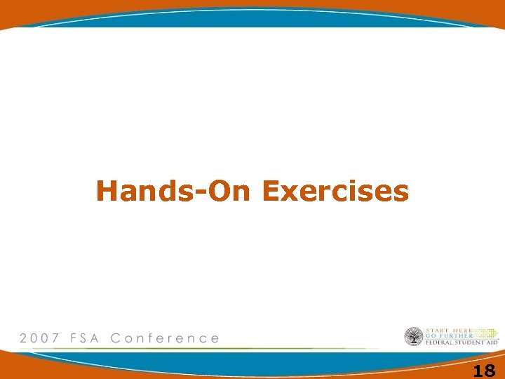 Hands-On Exercises 18