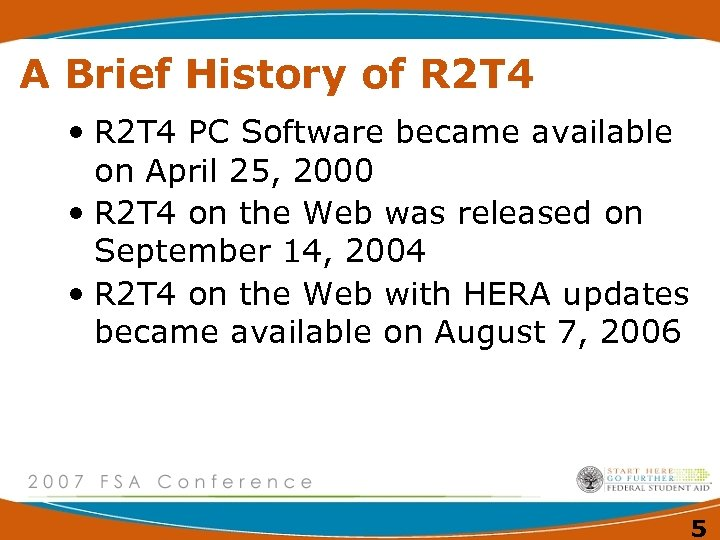 A Brief History of R 2 T 4 • R 2 T 4 PC