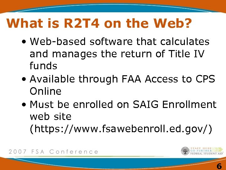What is R 2 T 4 on the Web? • Web-based software that calculates