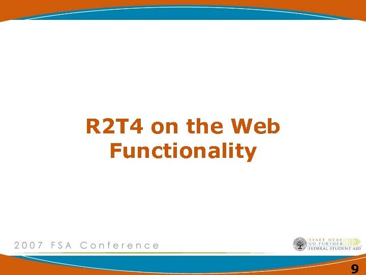 R 2 T 4 on the Web Functionality 9