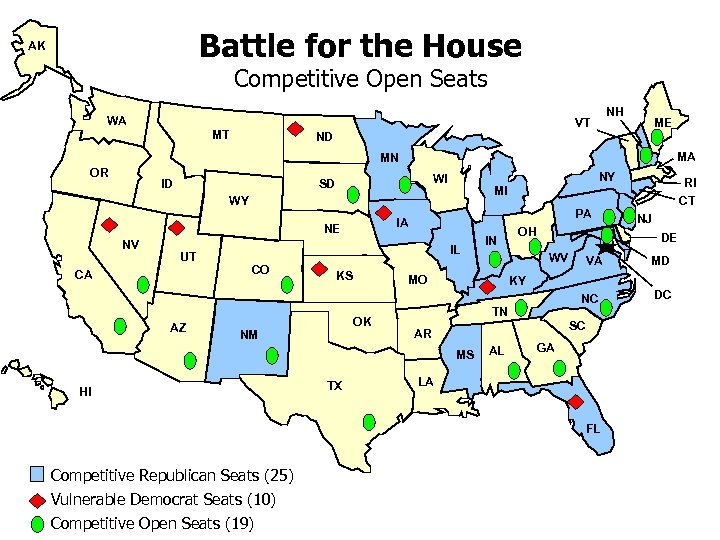 Battle for the House AK Competitive Open Seats WA NH VT MT ME ND