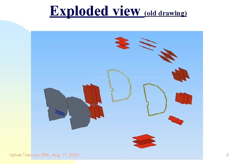 Exploded view (old drawing) Itzhak Tserruya, BNL, Aug. 11, 2004 8