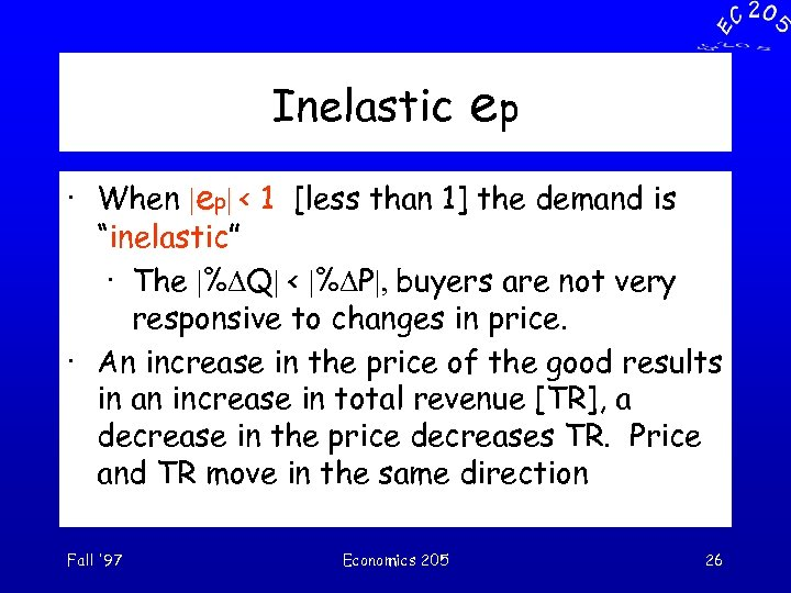"""Inelastic ep · When 