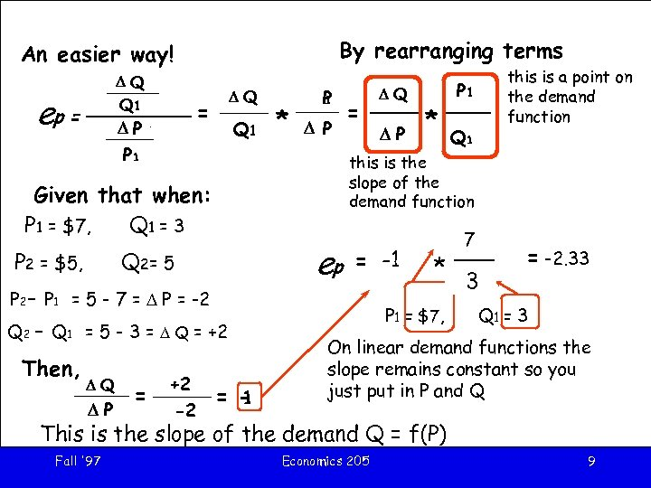 By rearranging terms An easier way! DQ Q 1 D Q 1 P ep
