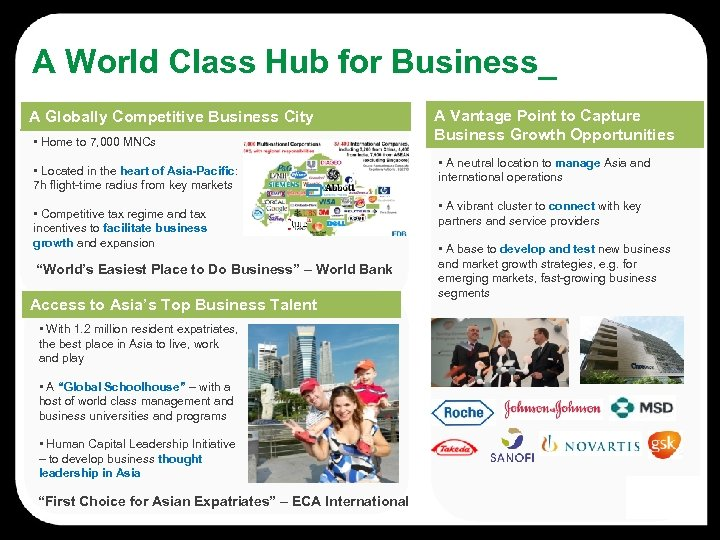 A World Class Hub for Business_ A Globally Competitive Business City • Home to