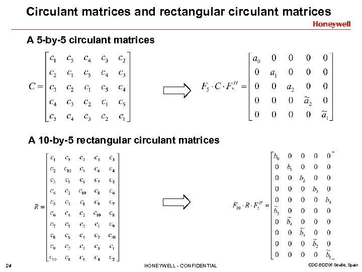 Circulant matrices and rectangular circulant matrices A 5 -by-5 circulant matrices A 10 -by-5