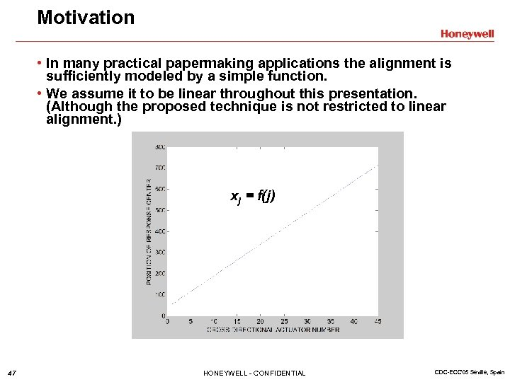 Motivation • In many practical papermaking applications the alignment is sufficiently modeled by a