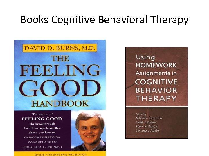 Books Cognitive Behavioral Therapy