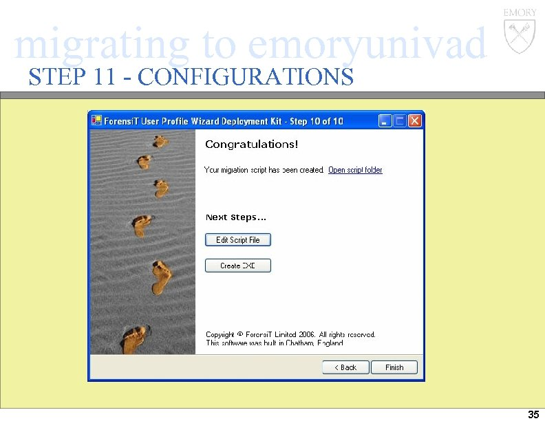 migrating to emoryunivad STEP 11 - CONFIGURATIONS 35