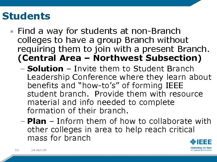 Students Find a way for students at non-Branch colleges to have a group Branch