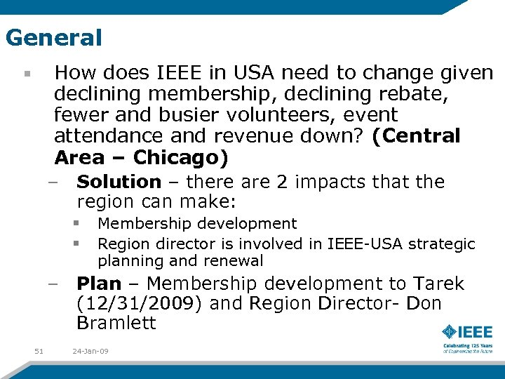 General How does IEEE in USA need to change given declining membership, declining rebate,